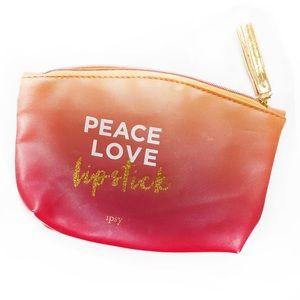 "IPSY ""Peace Love Lipstick"" Makeup Bag"